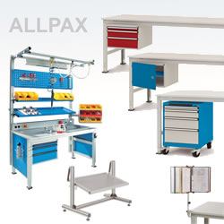 Werkbänke, Arbeitstische, Packtische