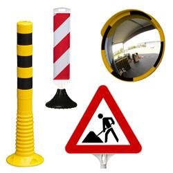Absperrung, Markierung, Schutz, Verkehrs-Leitsysteme